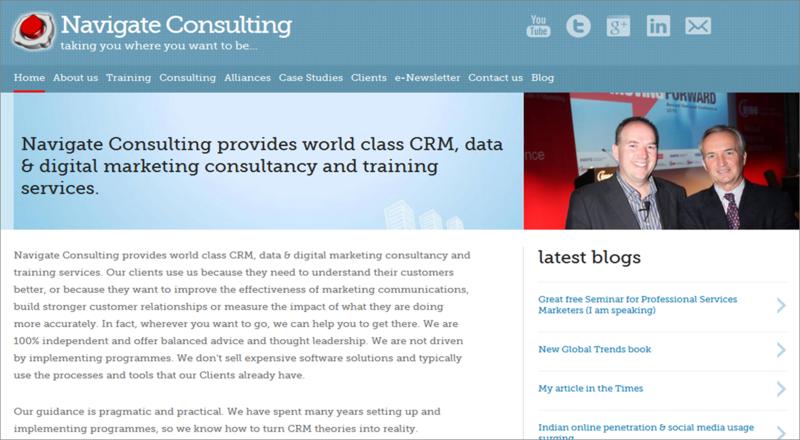 My web site screen grab