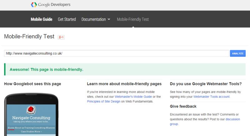 Google mobile tool